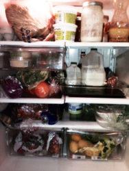 carob bars in refrigerator