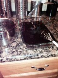 carob in lasagna pan